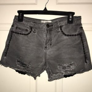 Free people gray jean shorts!